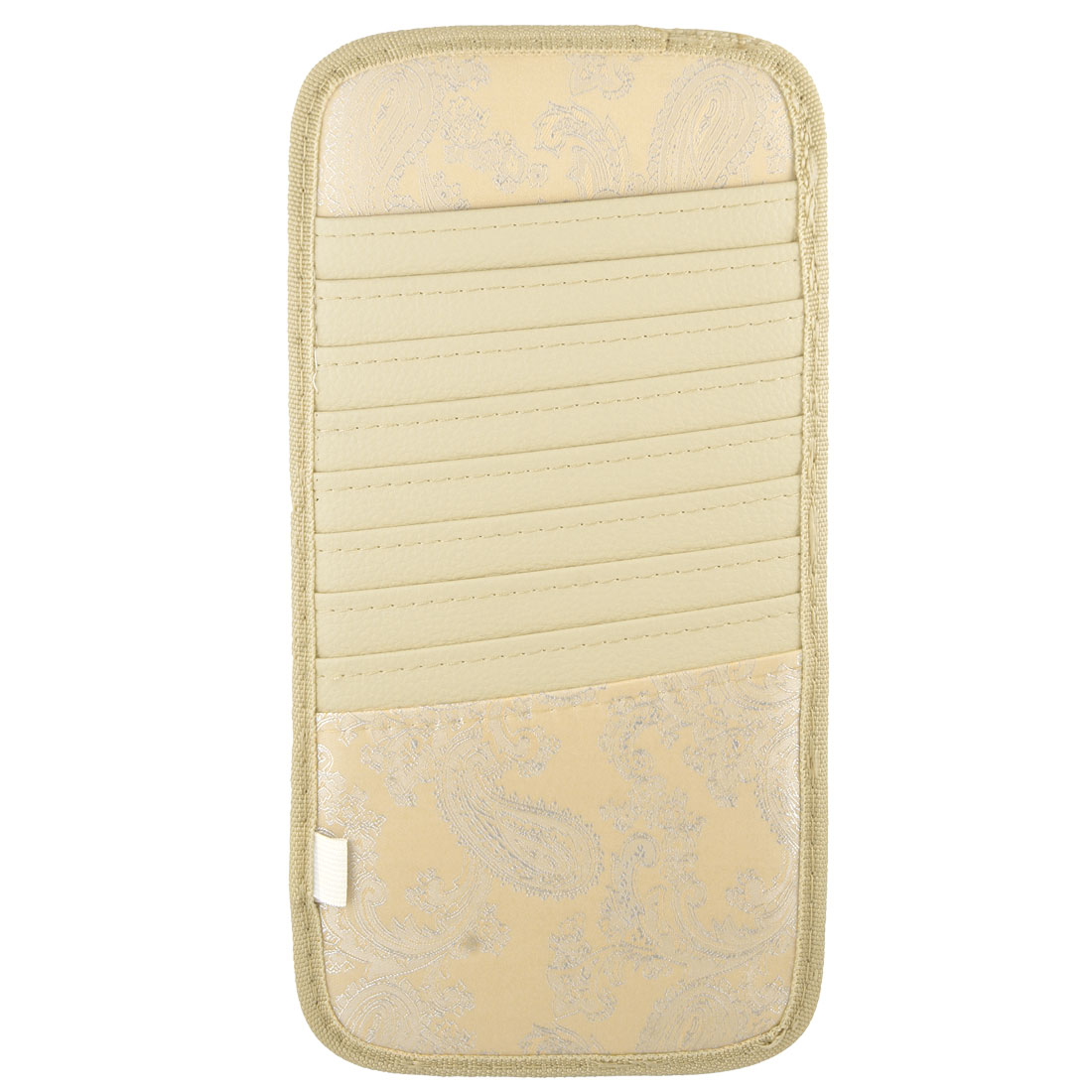 Car Visor Phoenix Feather Pattern CD DVD Disk Case Bag Beige