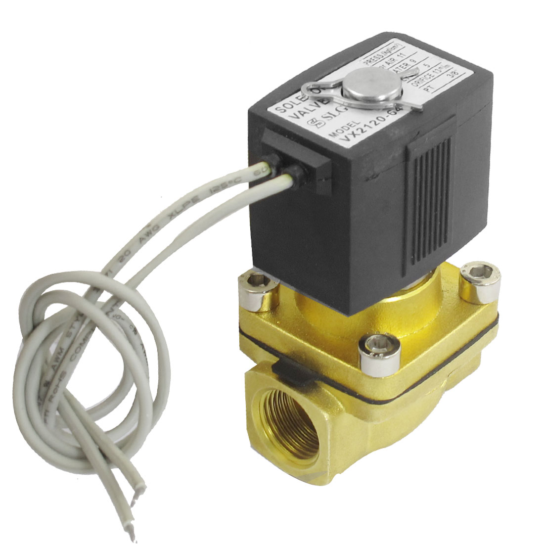 "DC 24V Direct Action 2 Position 2 Way G3/8"" Air Pneumatic Solenoid Valve"