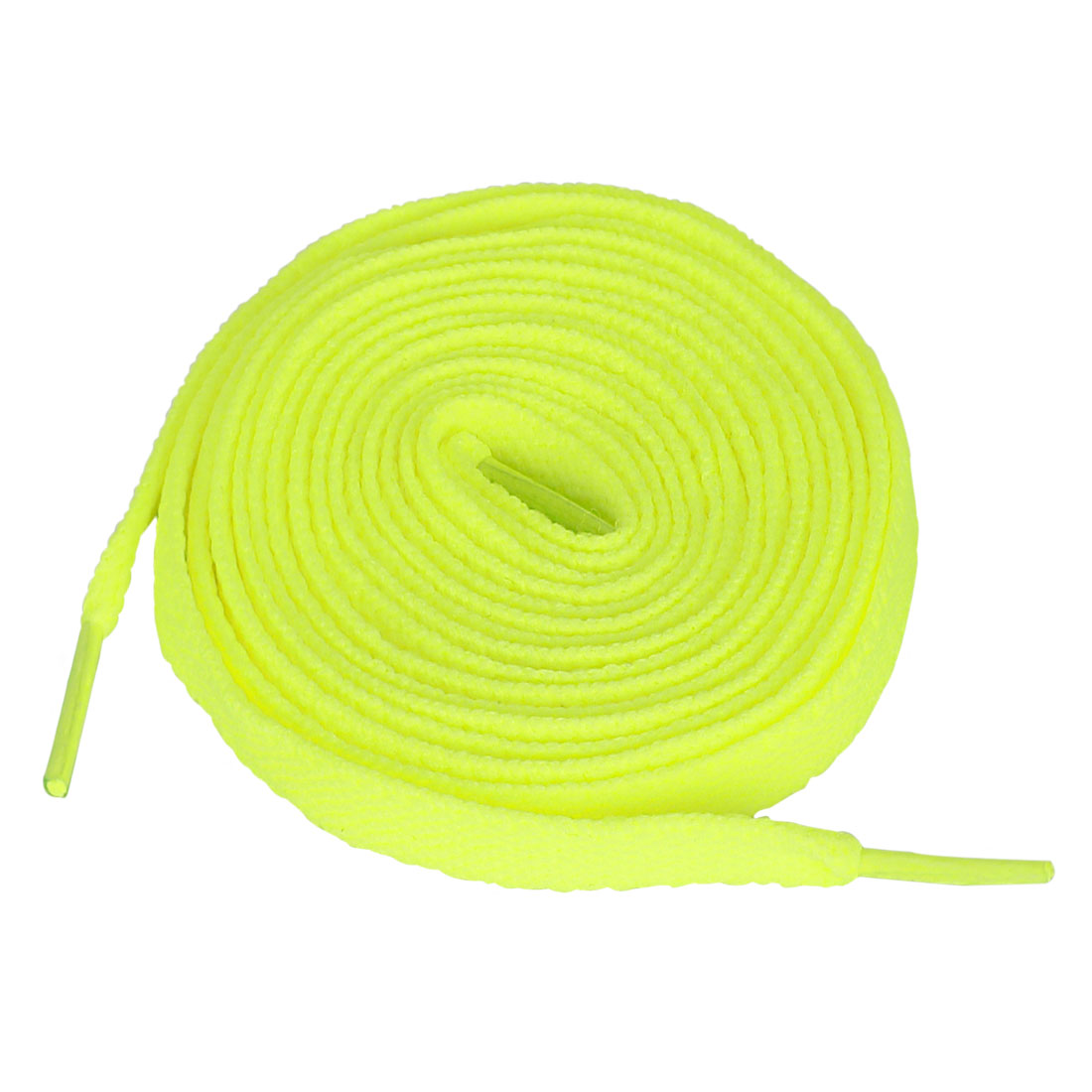 "45.7"" Yellow Replacement Flat Shoelaces Bootlaces 2 PCS"