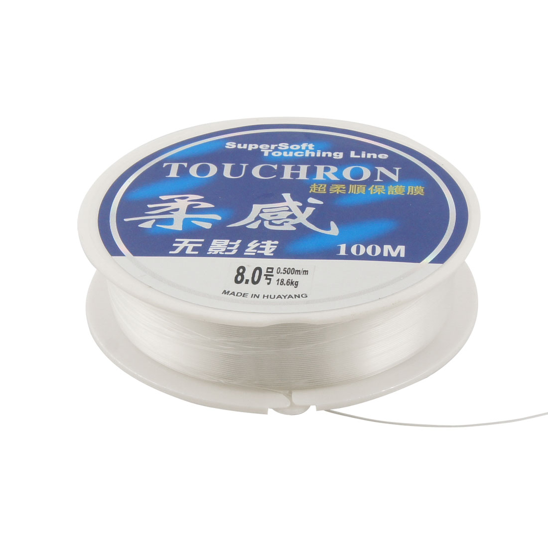 Round Spool 0.5mm Dia 100M 18.6kg 41 lbs Nylon Fish String Fishing Line Clear