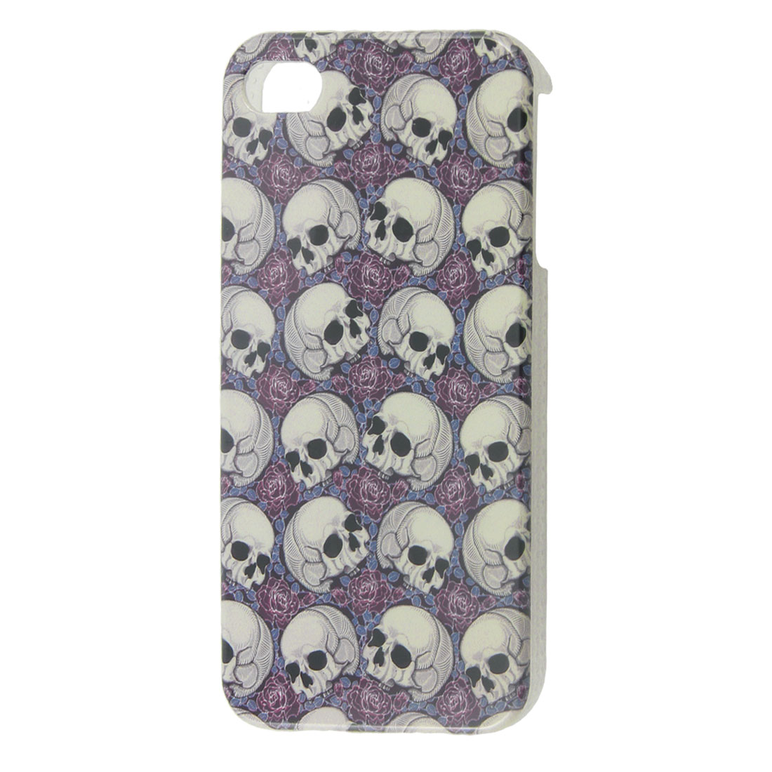Grey Skull Pattern IMD Hard Plastic Back Guard for iPhone 4 4G 4S