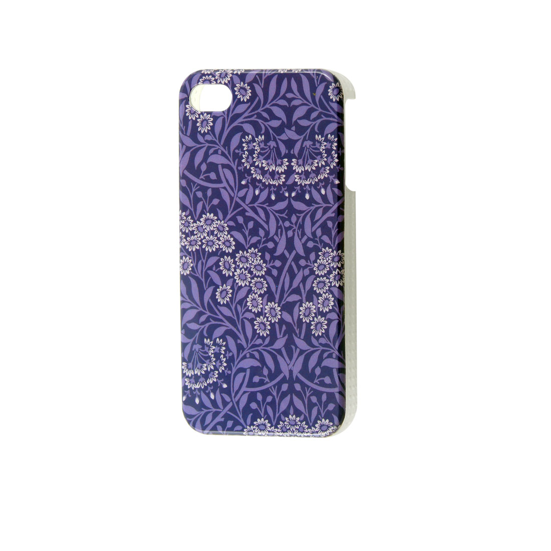Blossom Print Indigo Blue IMD Plastic Back Cover Shell for iPhone 4 4GS