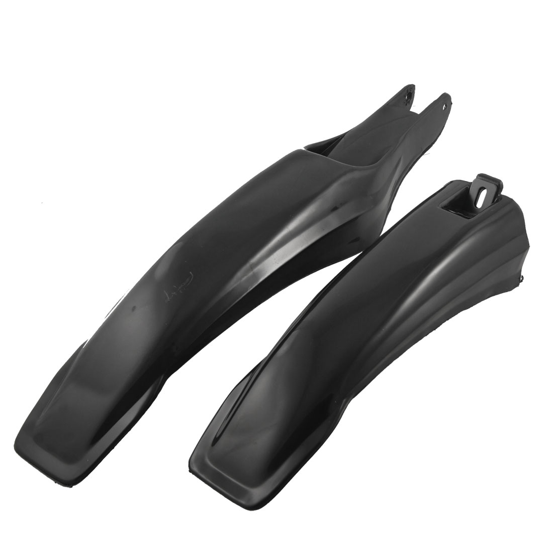 Plastic Front Rear Mudguard Fender Black for Mountain Bike Bicycle