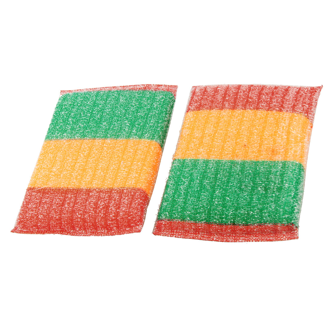2 Pcs Multicolor Scrub Sponge Padded Dish Pad Bowl Cup Cleaner