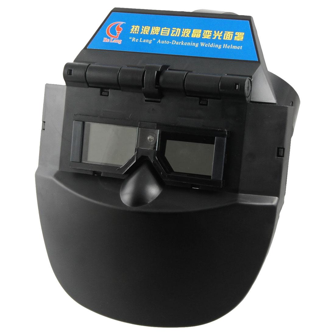 Black Plastic Auto Darkening Welding Helmet Mask Face Protector for Welder