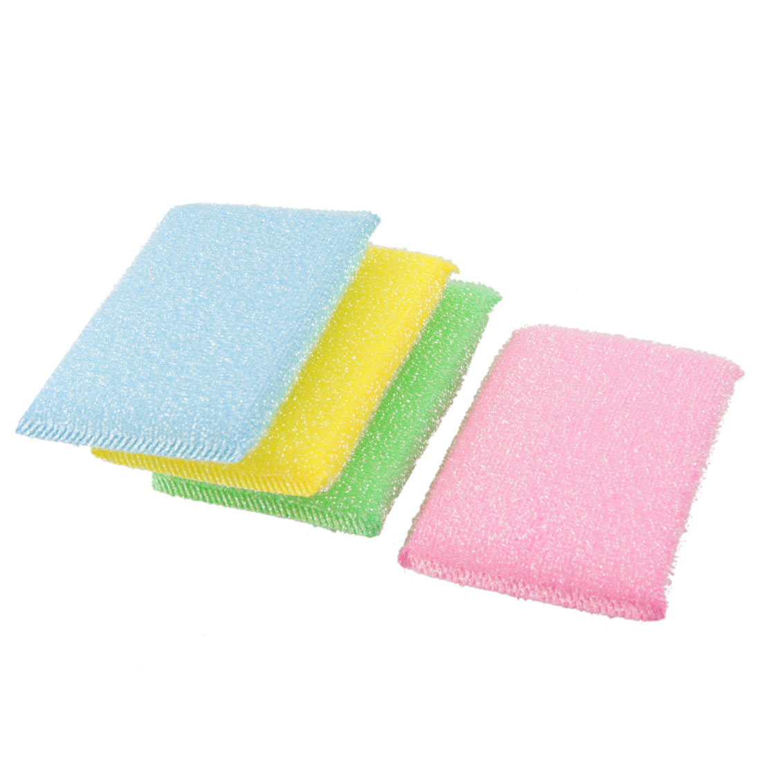 4 Pcs Assorted Color Scrub Sponge Padded Dish Pad Bowl Cup Cleaner