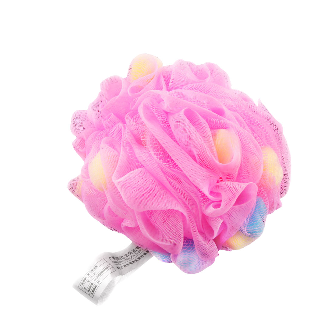 Bathing Skin Care Fuchsia Meshy Hole Ball Scrubber Shower Pouf