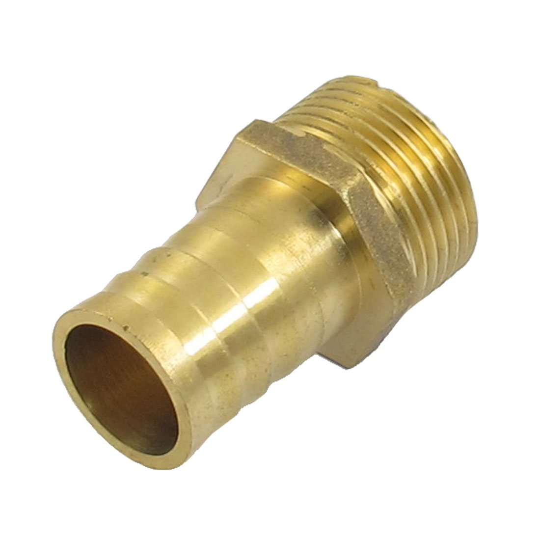 "Gold Tone Brass 25mm Fuel Gas Hose Barb 1"" Male Thread Coupling Fitting"