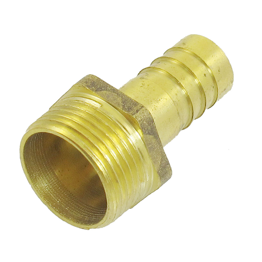 "Gold Tone Brass 16mm Hose Tail Dia 3/4"" Male Thread Coupling Fitting"