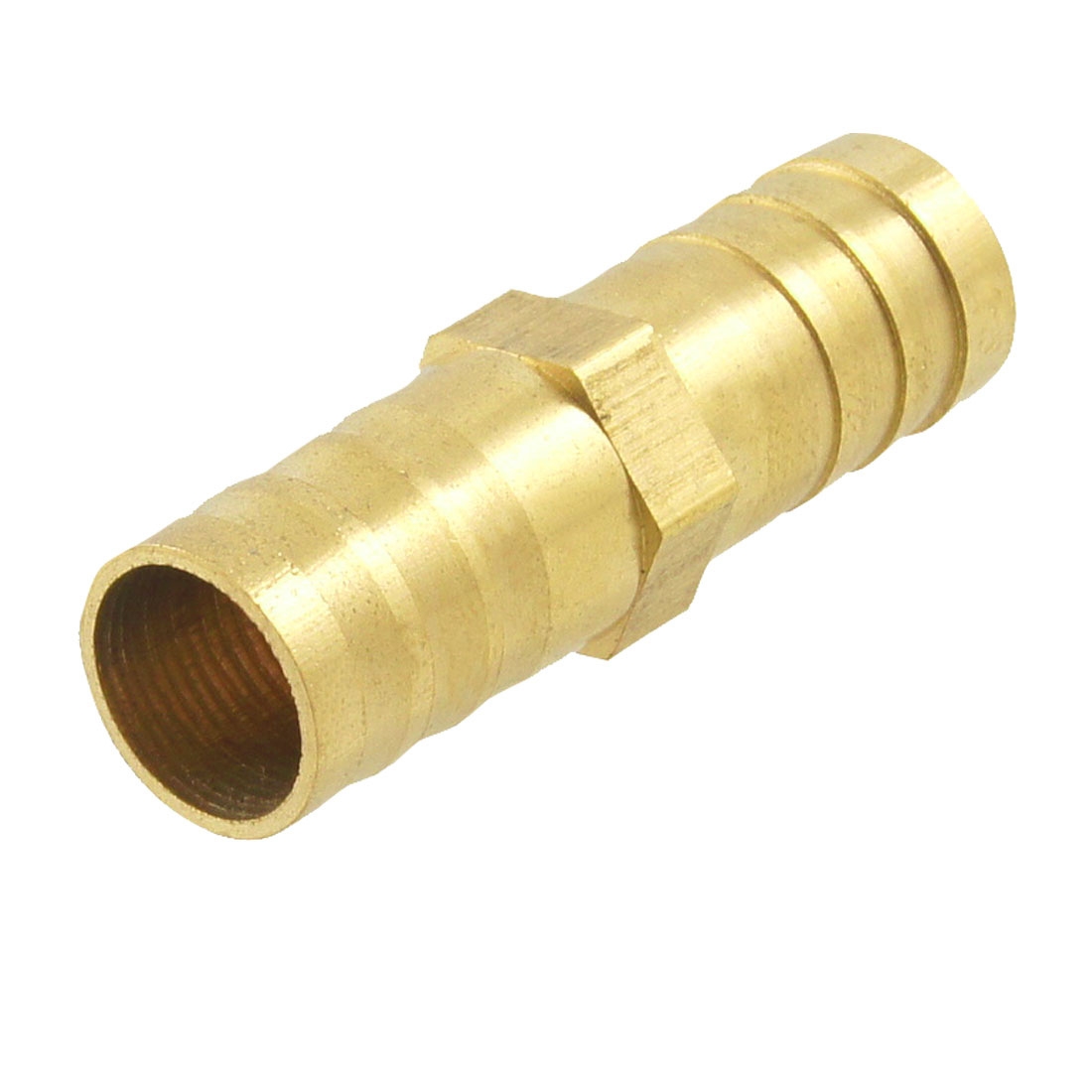 Brass Equal Straight Barb Connector Tube Fitting for Dual 12mm Inside Dia Hoses
