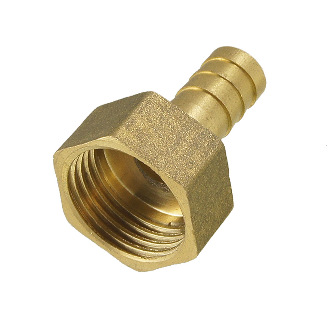 "Gold Tone Brass Fitting 10mm Hose Barb 1/2"" NPT Female Thread Straight Connector"