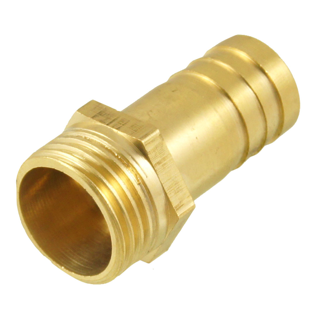 "Gold Tone Brass 16mm Fuel Gas Hose Barb 1/2"" PT Male Thread Coupling Fitting"