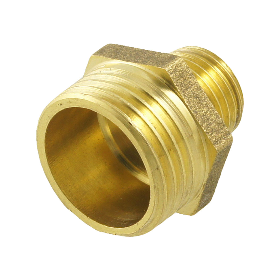 "0.9"" Length 1/4"" PT to 1/2"" PT Male Hex Nipple Reducing Connector Fitting New"