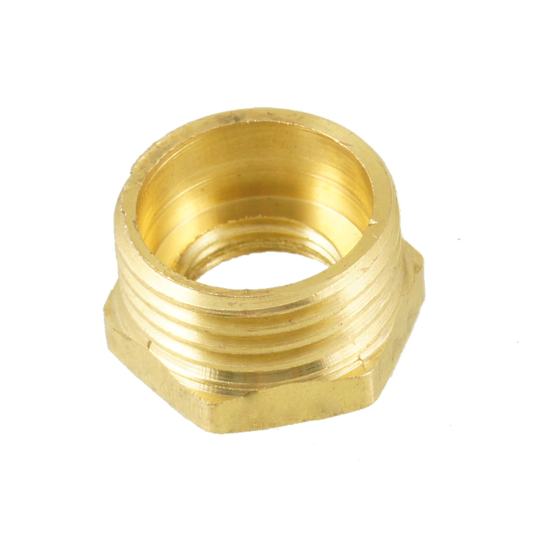 "1/2"" Male to 1/4"" NPT Female Hex Thread Bushing Piping Connector Adapter"