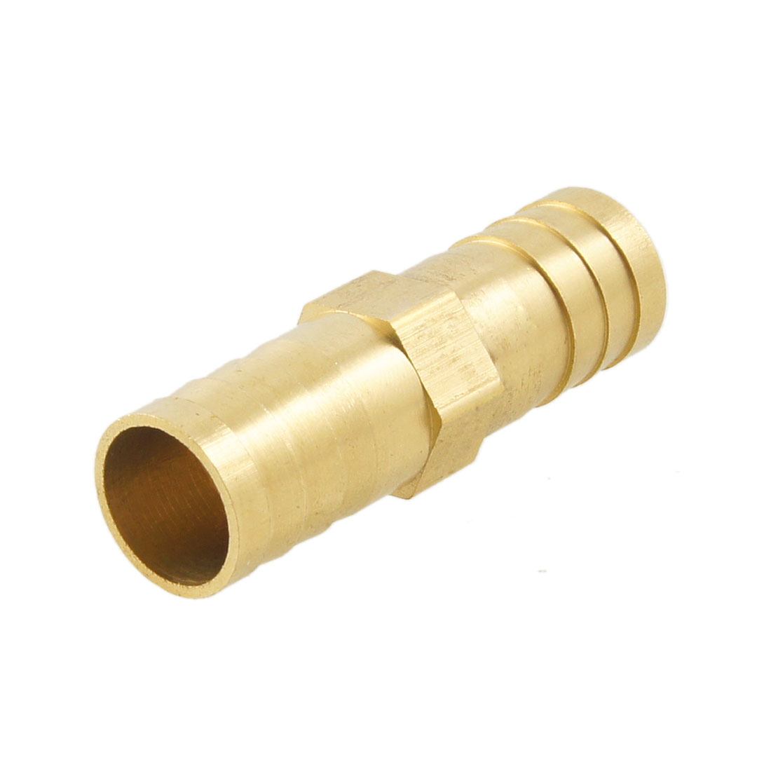 Brass Equal Straight Barb Connector Tube Fitting for Dual 14mm Inside Dia Hoses
