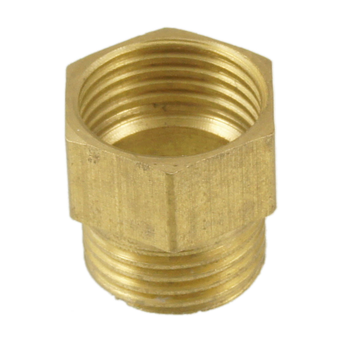 "Pipe Reducer 1/2"" PT Male to 1/2"" PT Brass Hex Thread Bushing Connector"