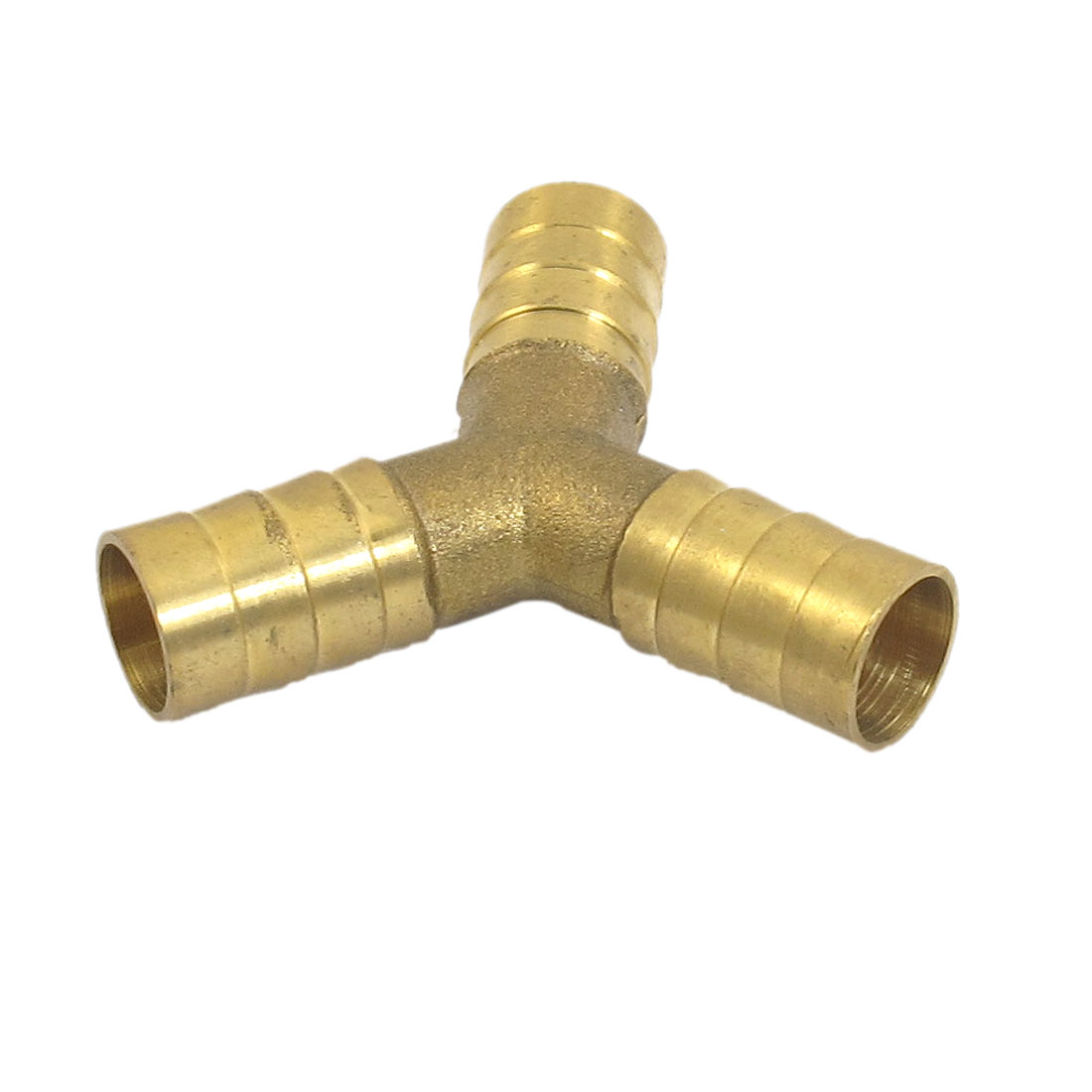 12mm Connecting Dia Aquarium Fish Tank Brass Y Shape 3 Ways Airline Air Valve