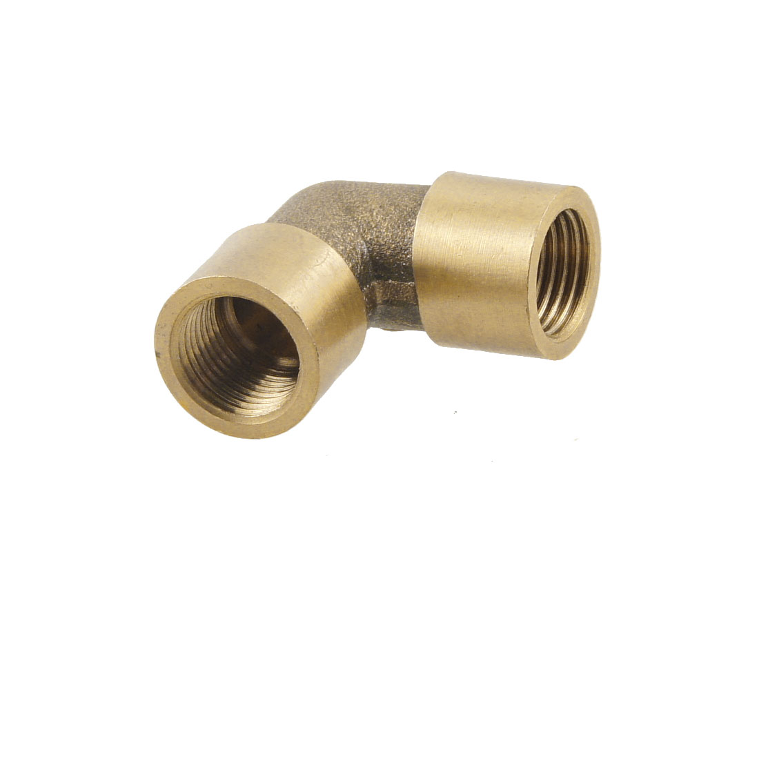 "1/8"" PT Female Threaded 90 Degree Elbow Fitting Union Adapter Bronze Tone"