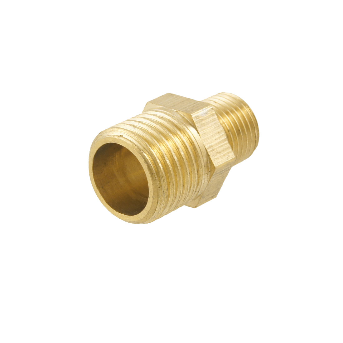 18.5mm Long 1/4BSP to 1/8BSP Male Hex Nipple Reducing Connector Fitting