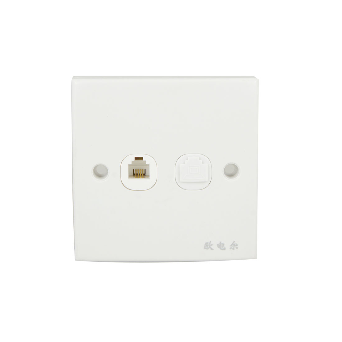 RJ11 Telephone RJ45 Computer Network Socket Wall Outlet Plate White