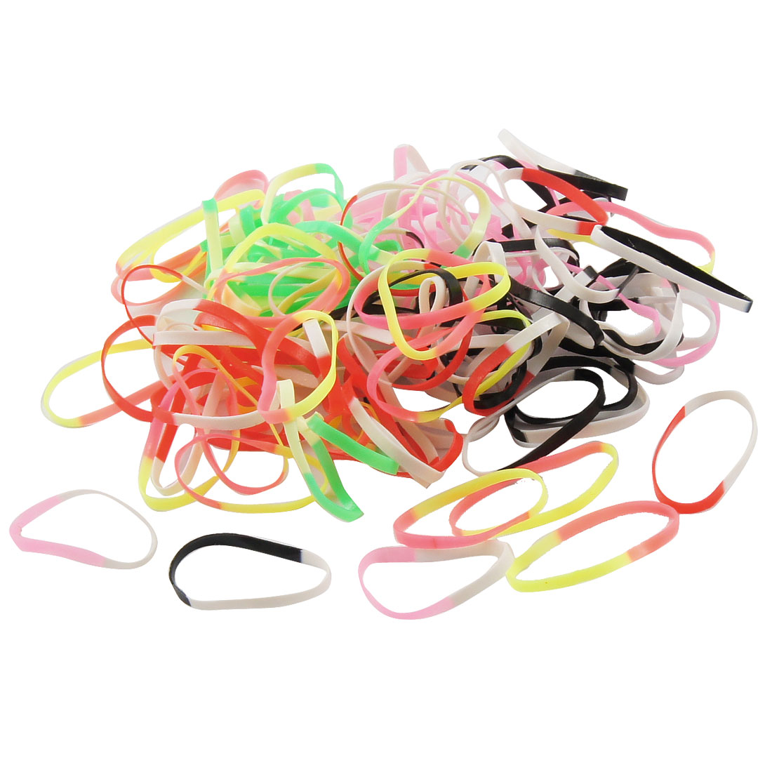 900 Pcs 6 Pack 7 Colors Rubber Elastic Hair Band Ponytail Holder