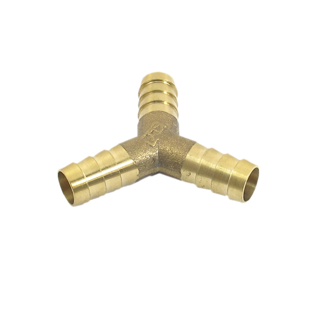 10mm Connector Dia Aquarium Fish Tank Brass Y Shaped 3 Ways Airline Air Valve