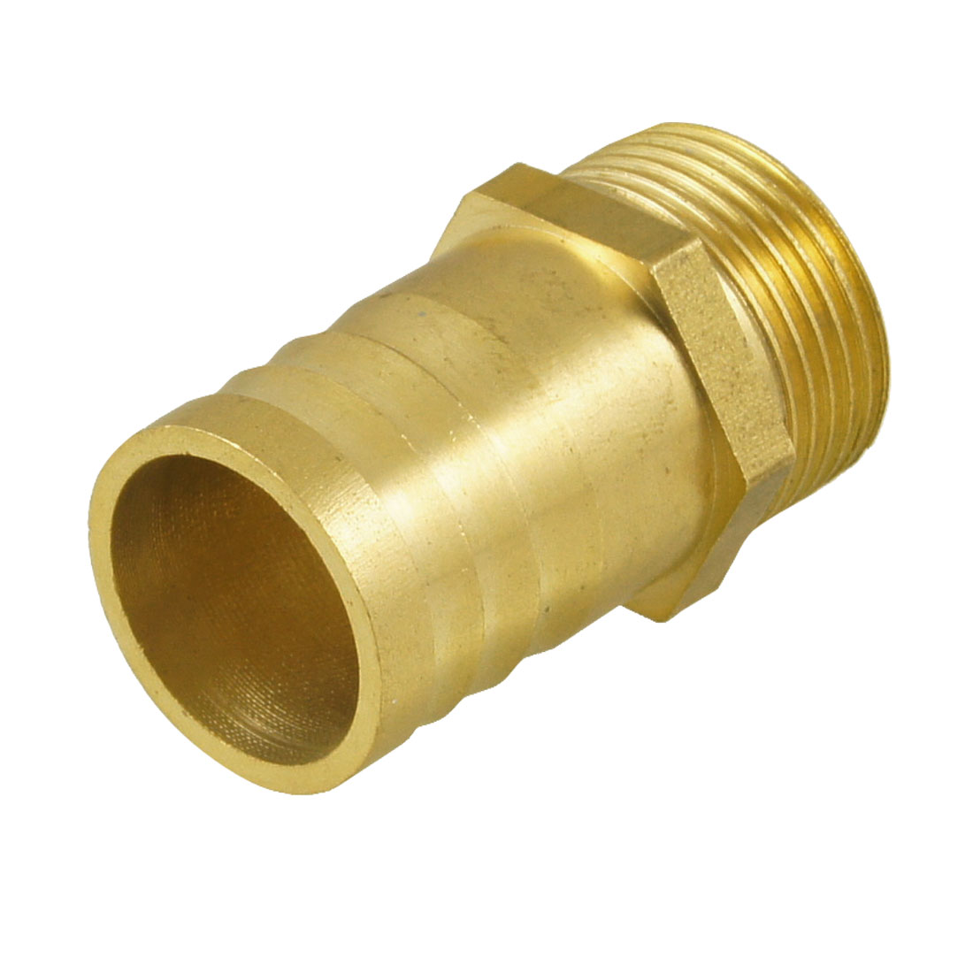 "Gold Tone Brass 25mm Fuel Gas Hose Barb 3/4"" PT Male Thread Coupling Fitting"