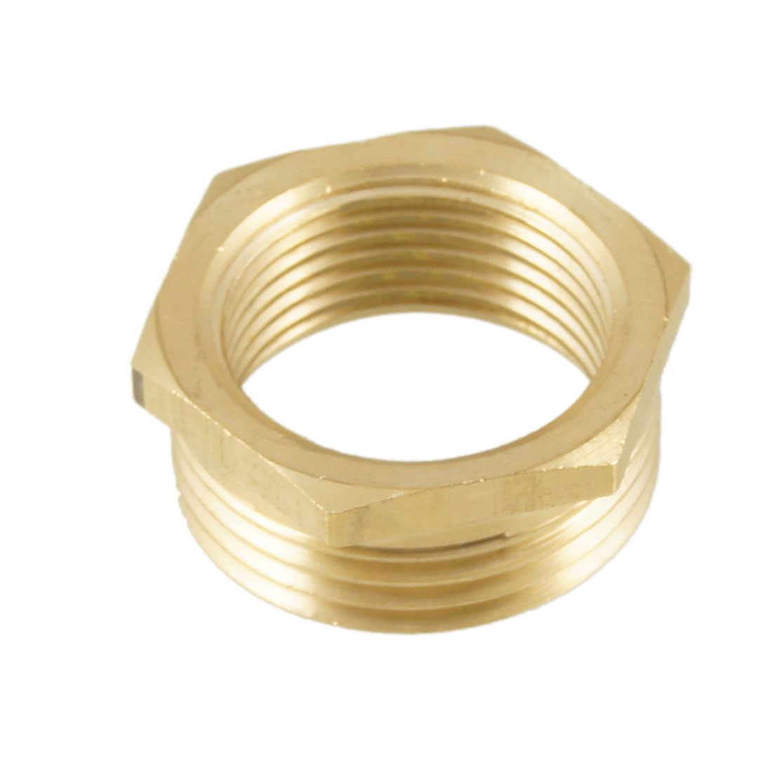 1PT Male to 3/4PT Female Hex Thread Bushing Piping Connector Adapter