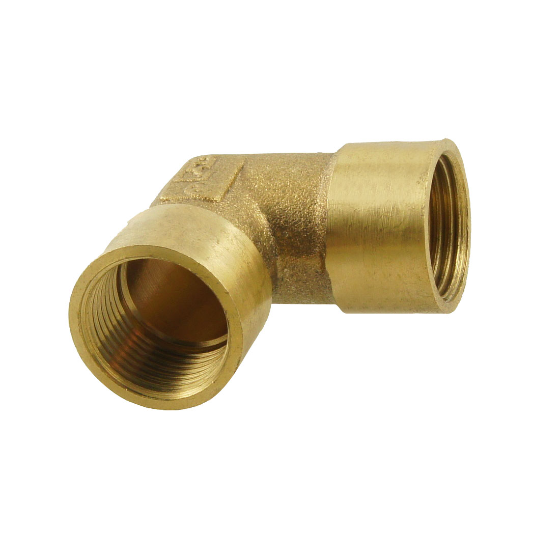 "3/8"" PT Female Threaded 90 Degree Elbow Fitting Union Adapter Bronze Tone"