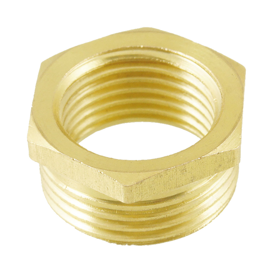 "3/4"" PT Male to 1/2"" PT Female Hex Thread Bushing Piping Connector Adapter"