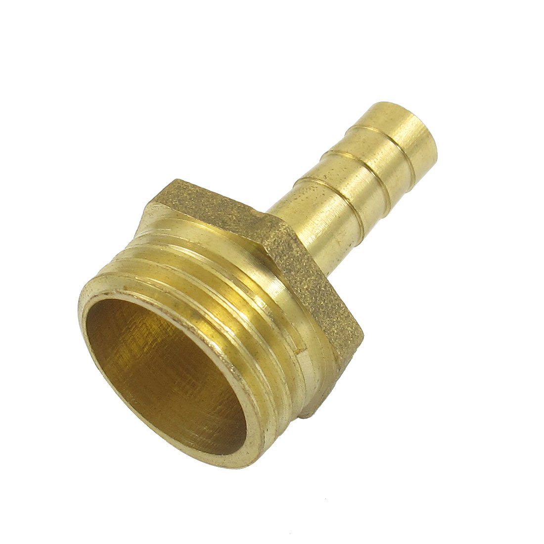 "Gold Tone Brass 8mm Fuel Gas Hose Barb 1/2"" Male Thread Coupling Fitting"