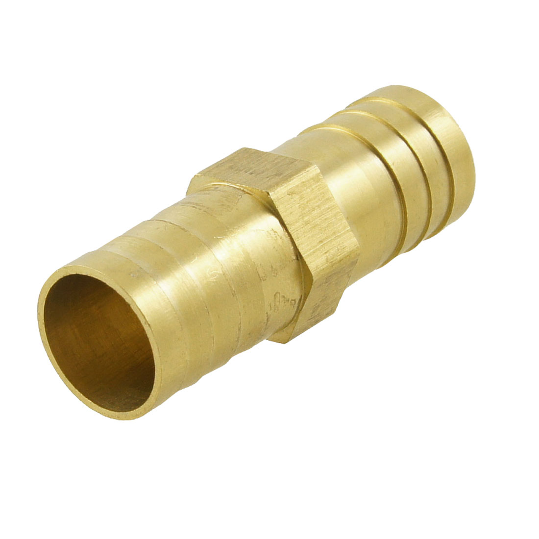 "1/4"" to 1/4"" Brass Equal Straight Barb Connector Tube Fitting 47mm Long"