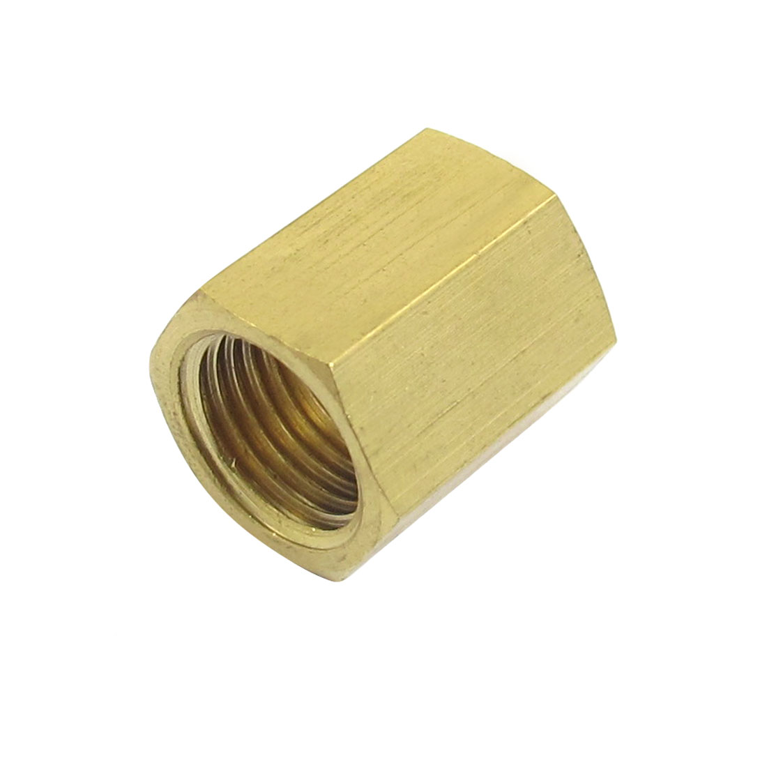 12mm Female Thread Dia Hex Rod Coupling Straight Connector Brass Fitting