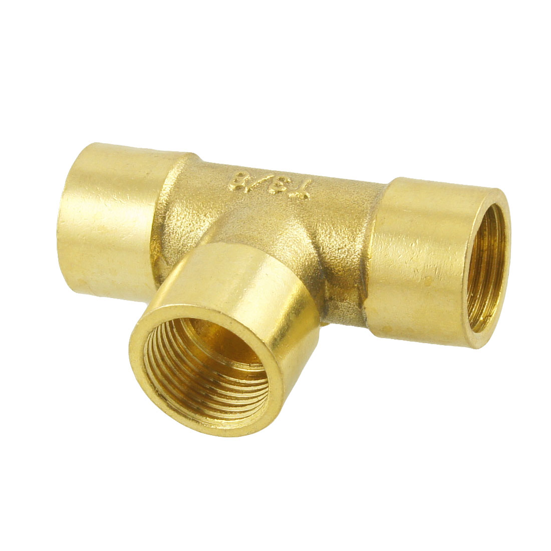 "3/8"" PT Female Thread 3 Way Equal Tee Coupling Brass Pipe Fitting Adapter"