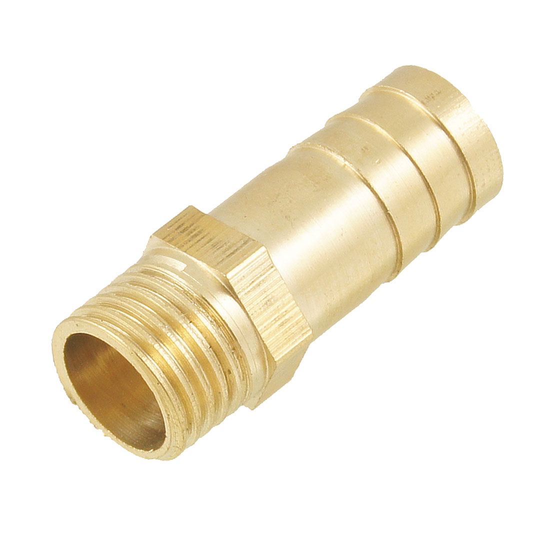 "Gold Tone Brass 12mm Fuel Gas Hose Barb 1/4"" PT Male Thread Coupling Fitting"