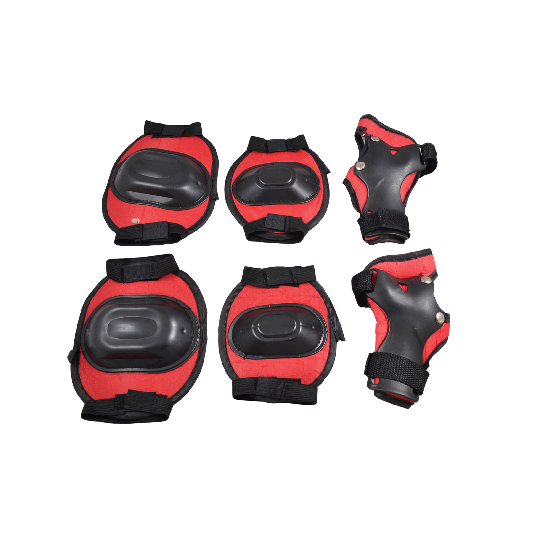 Children Red Black Wrist Palm Elbow Knee Pad Support Brace Protector