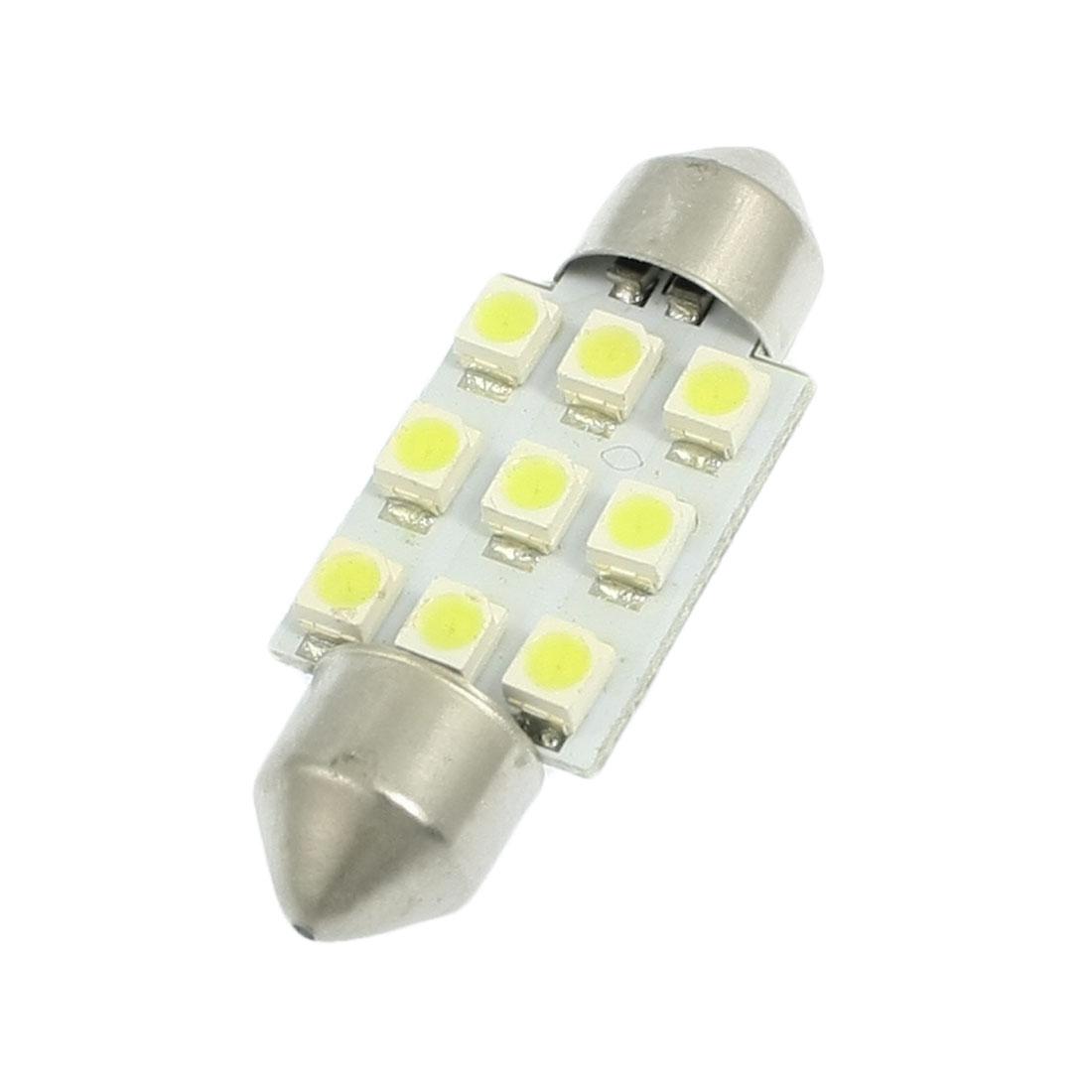 Car Interior White 1210 SMD 9 LED Bulb Dome Light Lamp 36mm DC 12V
