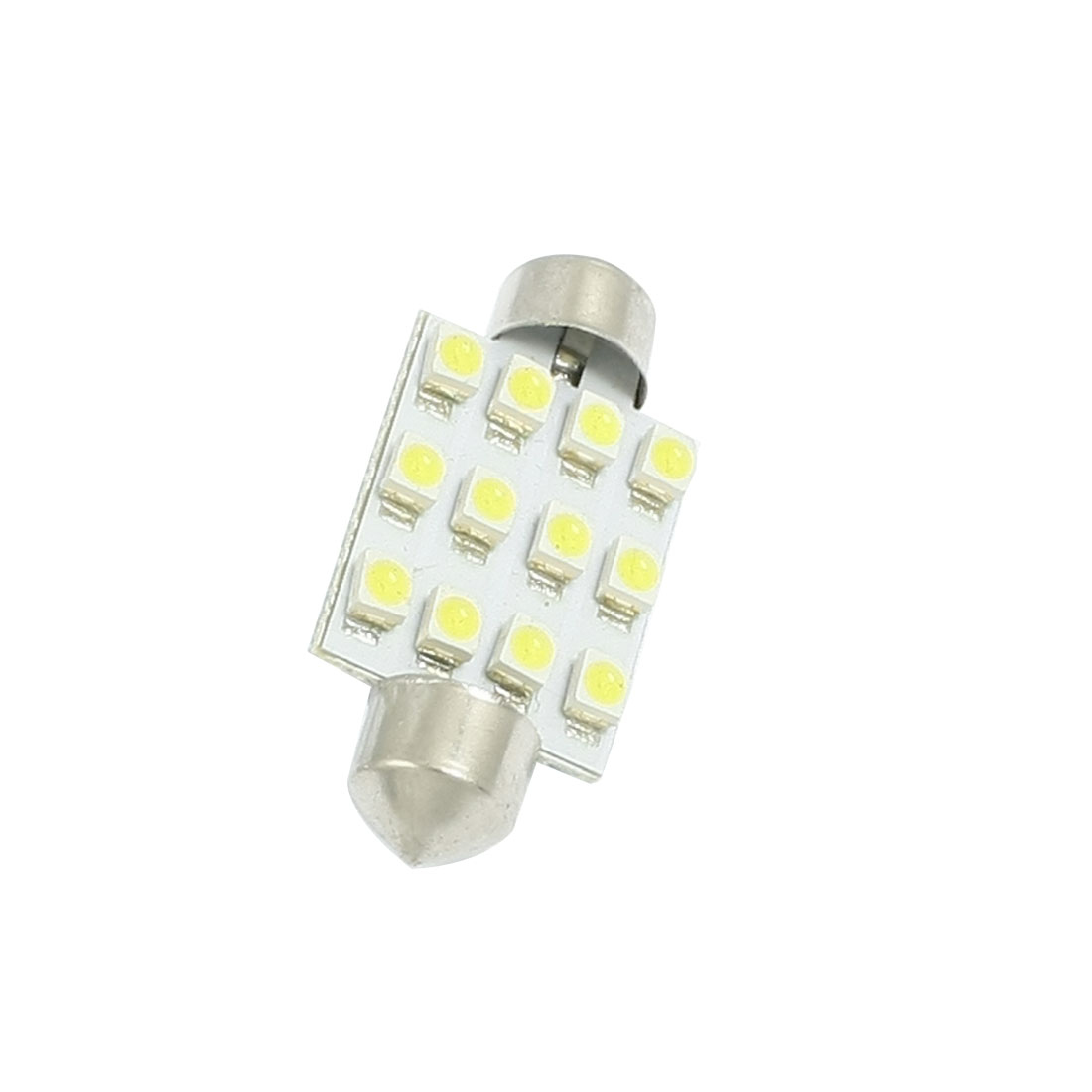 Car Interior DC 12V White 1210 12 SMD Dome Festoon LED Light Lamp Bulb 39mm