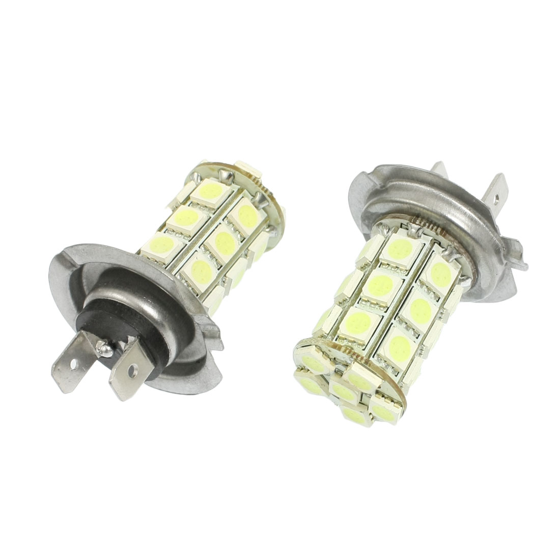 2 Pcs Car H7 White 5050 SMD 27 LED Bulb Fog Driving Light Lamp DC 12V