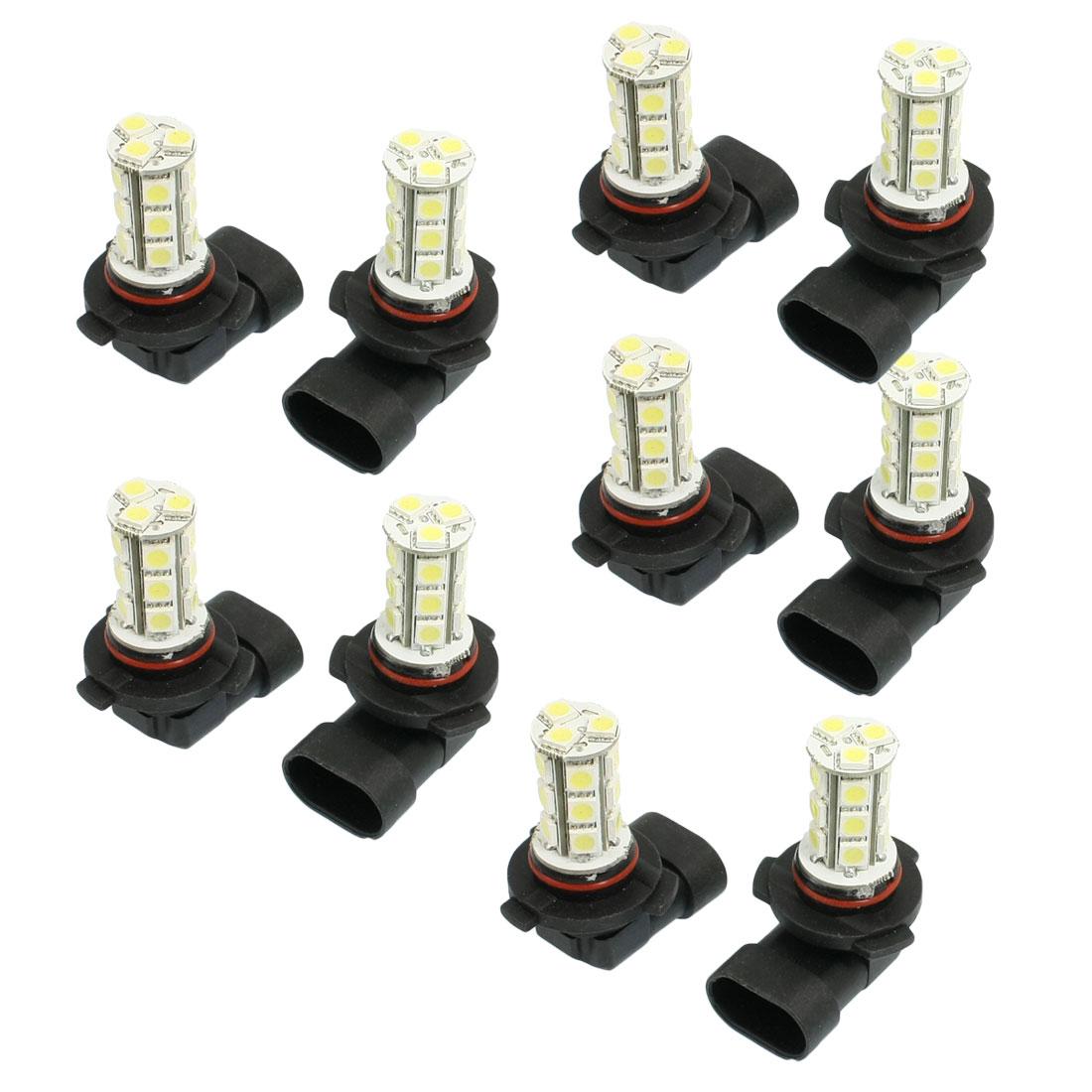 10 x Car 18 LED 5050 SMD HB3 9005 White DRL Fog Light Lamp Bulb 12V