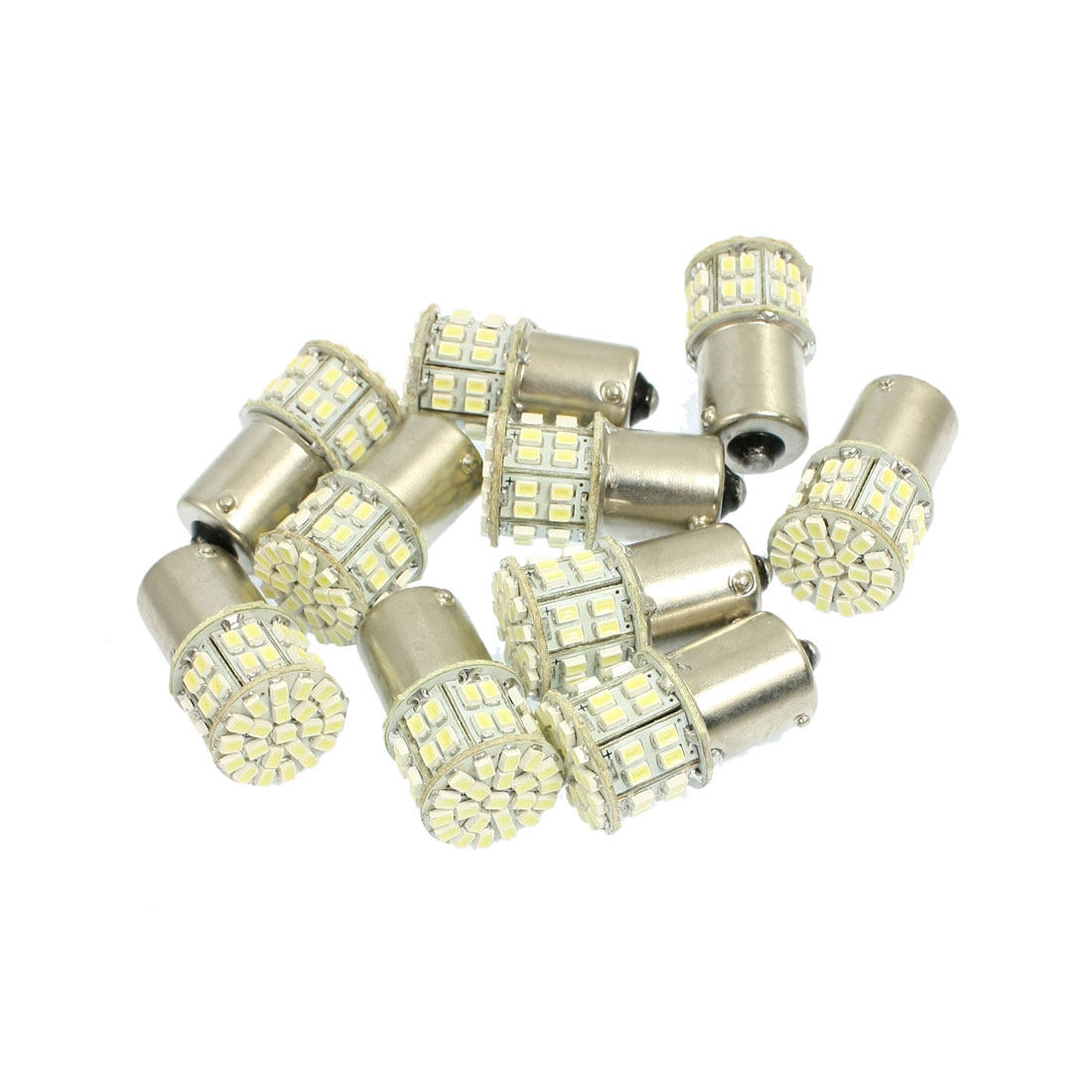 10 Pcs Car 1156 BA15S White 1206 SMD 50 LED Bulb Tail Turn Signal Light Lamp