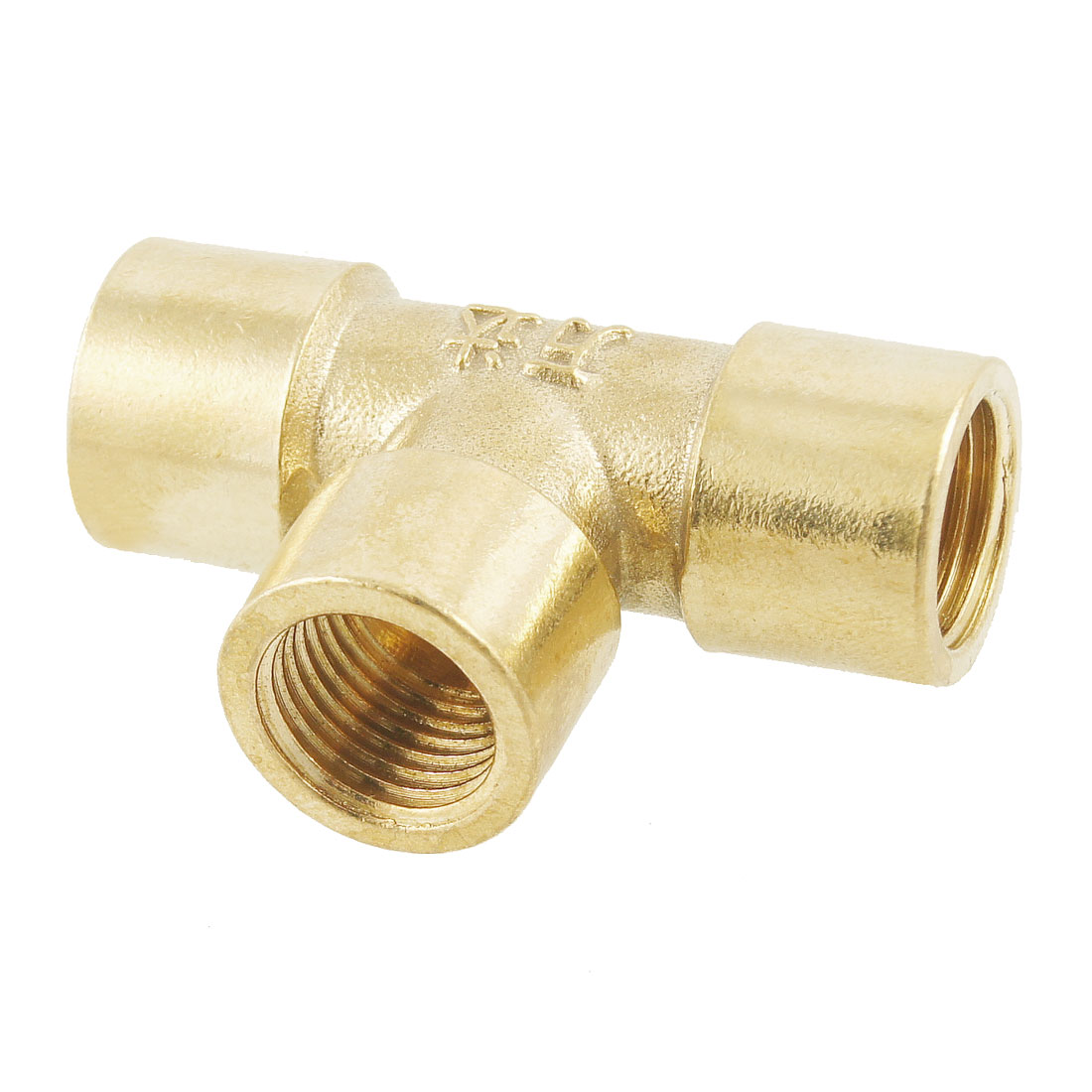 "1/4"" Female Thread 3 Way T Shaped Equal Tee Coupling Brass Pipe Fitting Adapter"