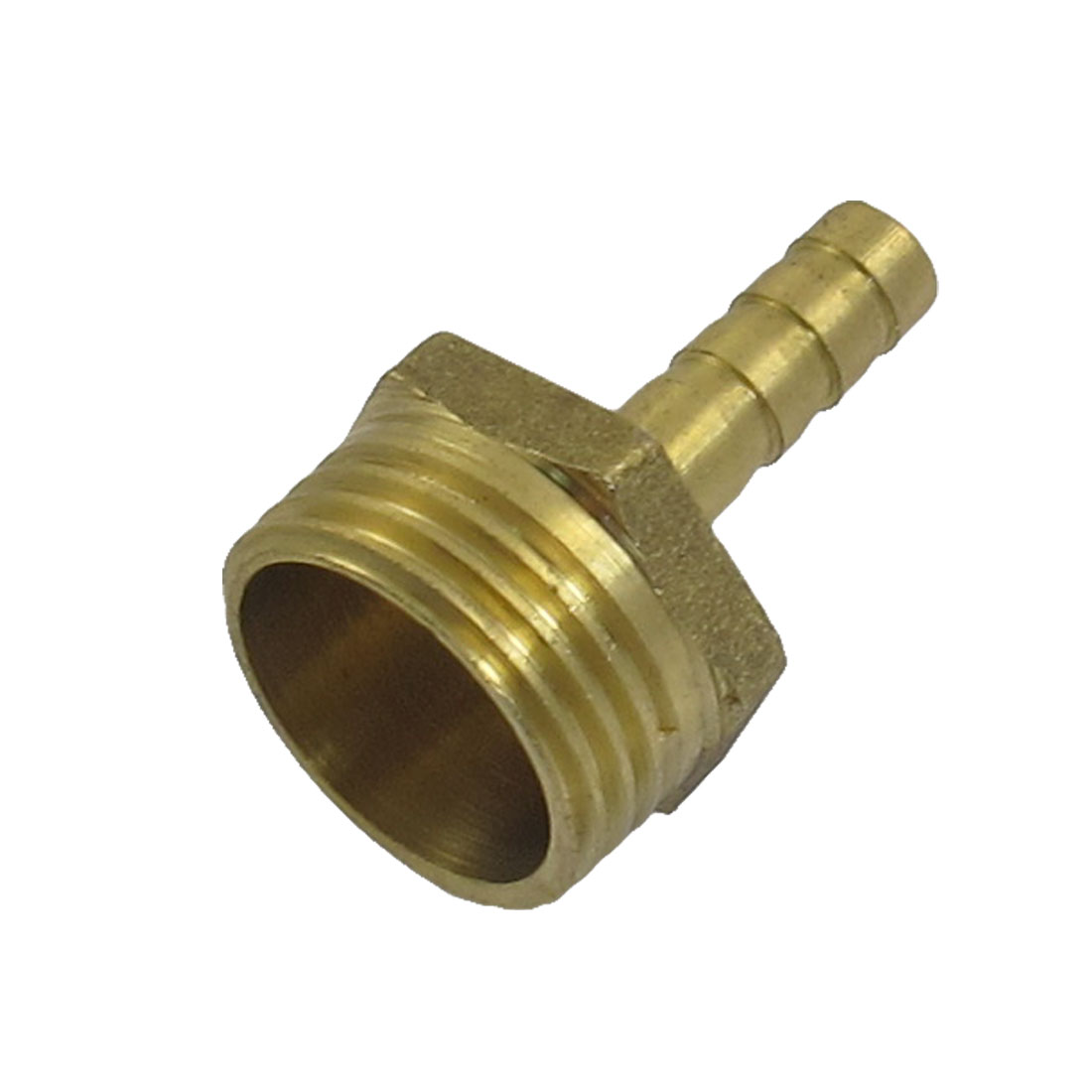 "Gold Tone Brass 6mm Hose Barb 1/2"" Male Thread Coupling Fitting"