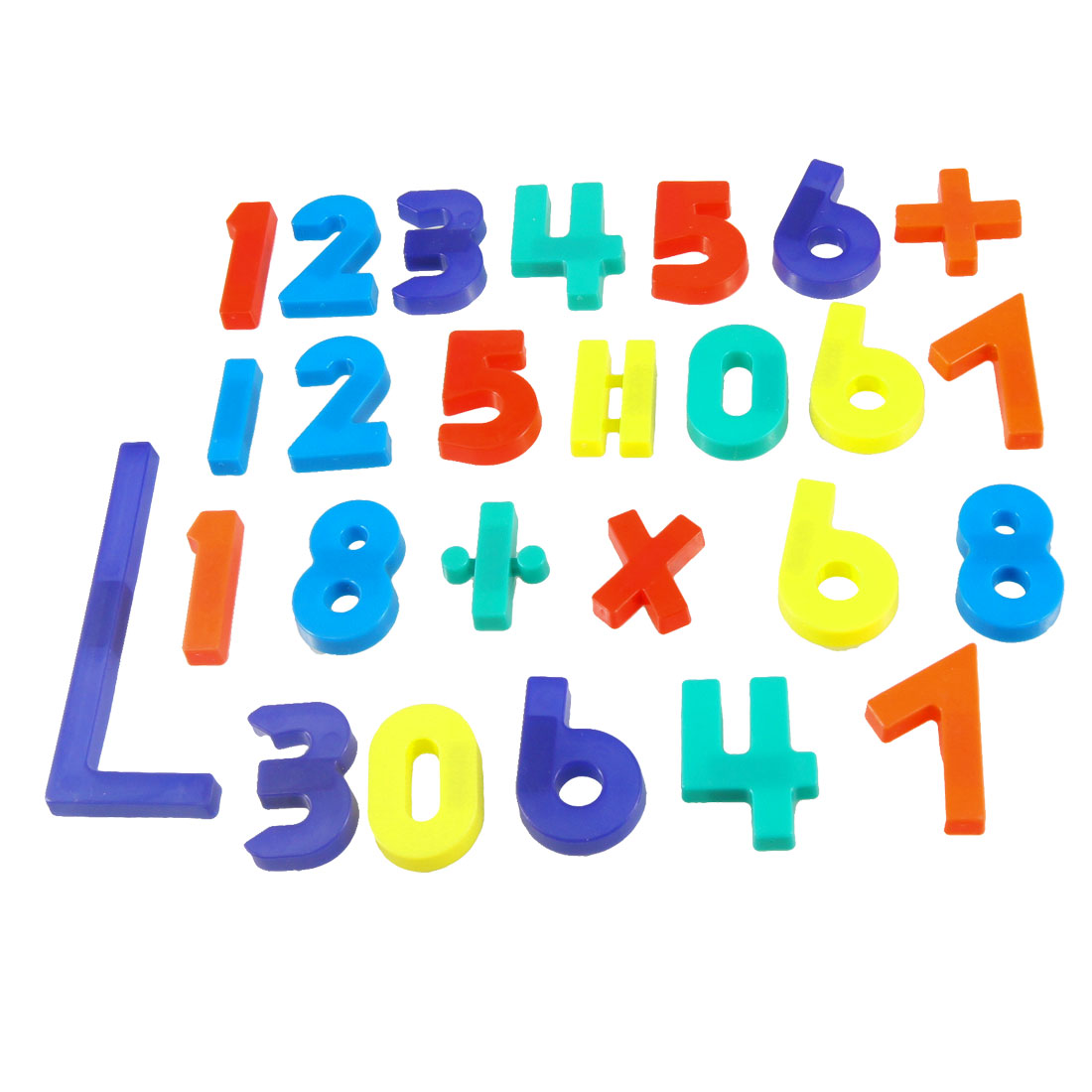 Colorful Plastic Arithmetic Symbol Arabic Numerals Magnetic Sticker Set 26 in 1