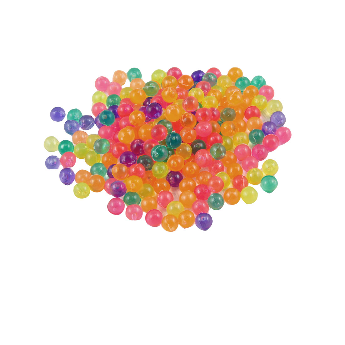 Aquarium Fish Tank Assorted Color Plastic Beads Ornament 200 Pcs