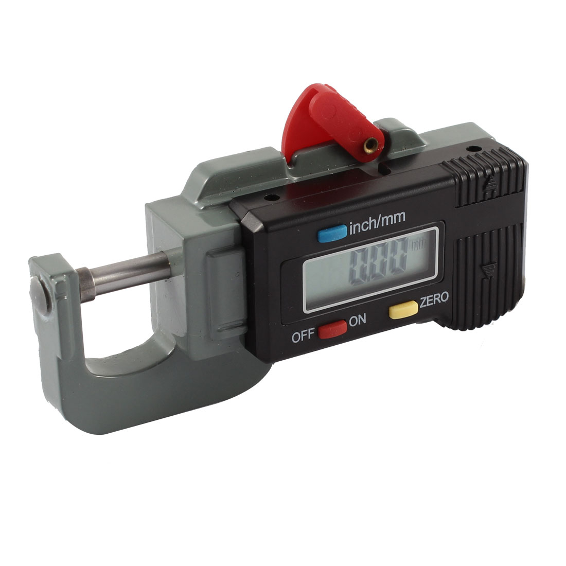 0-12.7mm Digital LCD Inch/mm Metal Grip Thickness Gauge Tool