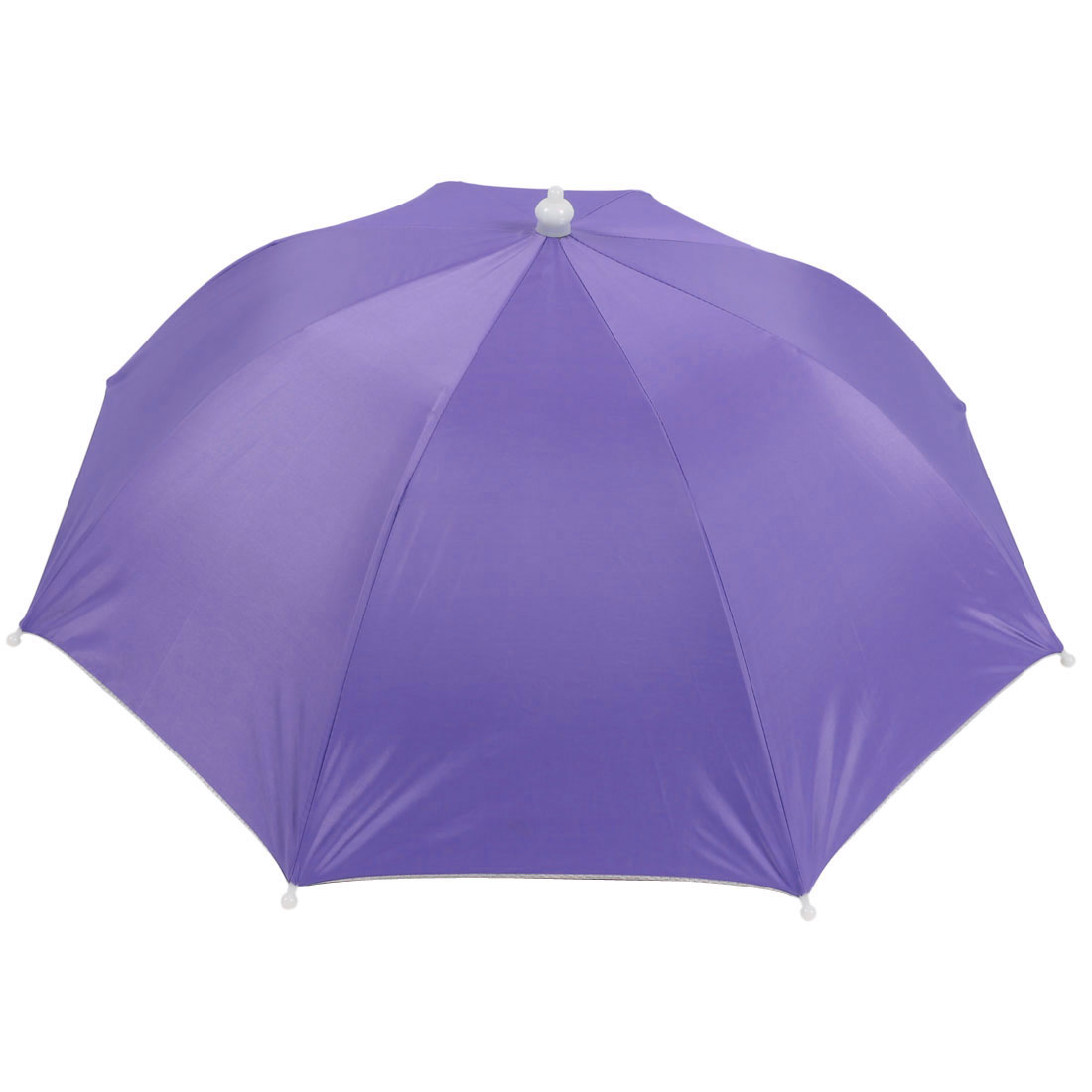 Light Purple Nylon Outdoor Fishing Camping Headwear Umbrella Hat