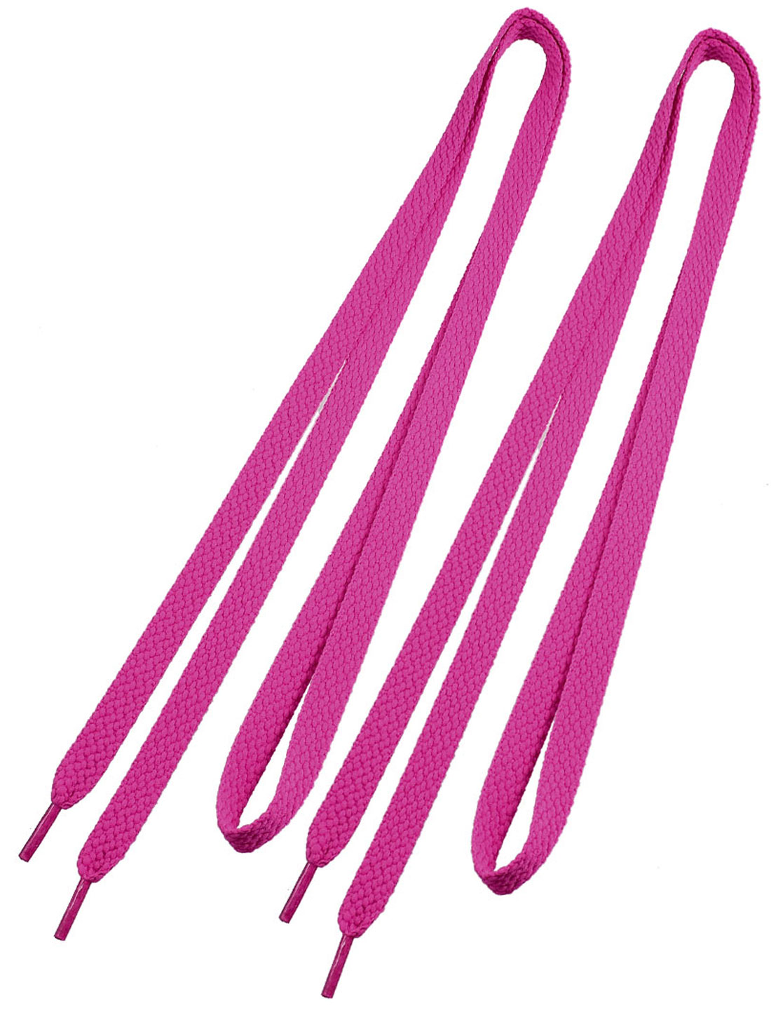 Pair Fuchsia Flat Shoelaces Sports Shoes Strings Replacement for Lady