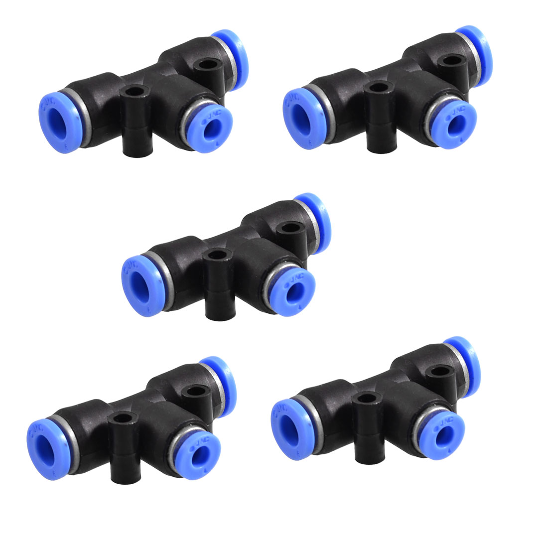 5 Pcs 6mm to 4mm Quick Joint Air Pneumatic T Shaped Push in Fittings