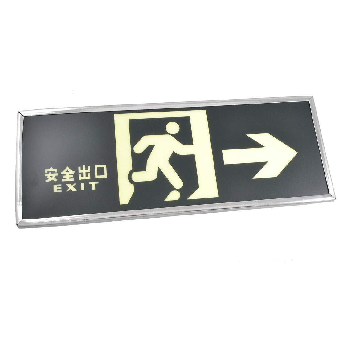 Glow in the Dark Running Man Pattern Right Arrow Emergency Exit Sign